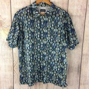 Patagonia Rhythm Button Up Short Sleeve Shirt Sz M